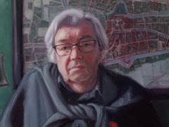 Vanitas portret van Maarten van Rossem